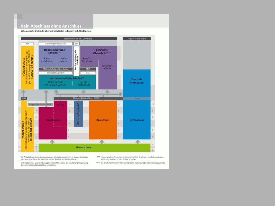 Die Fachoberschule: Besonderheiten der einzelnen Jahrgangsstufen Zugangsberechtigung zur 13.