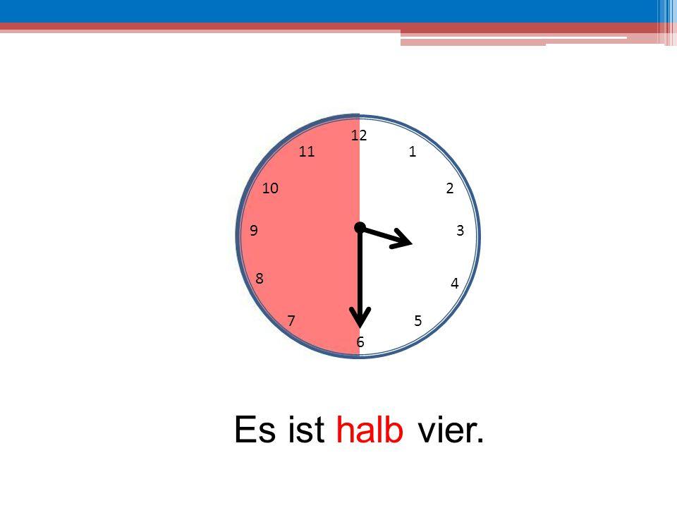 12 6 39 10 111 2 4 57 8 Es ist halb vier.