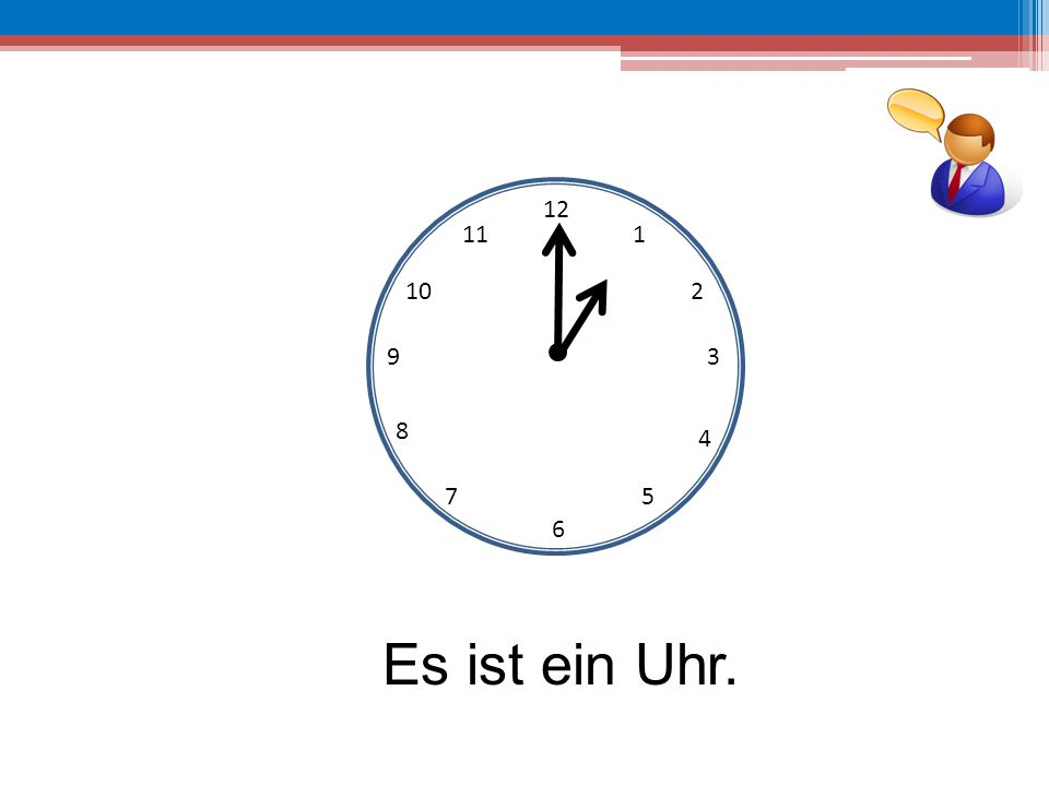 12 6 39 10 111 2 4 57 8 Es ist sechs Uhr.