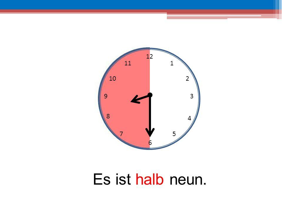 12 6 39 10 111 2 4 57 8 Es ist halb neun.