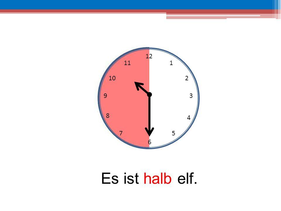 12 6 39 10 111 2 4 57 8 Es ist halb elf.