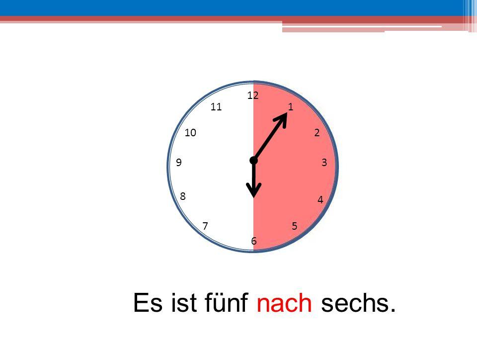 12 6 39 10 111 2 4 57 8 Es ist fünf vor halb sieben.