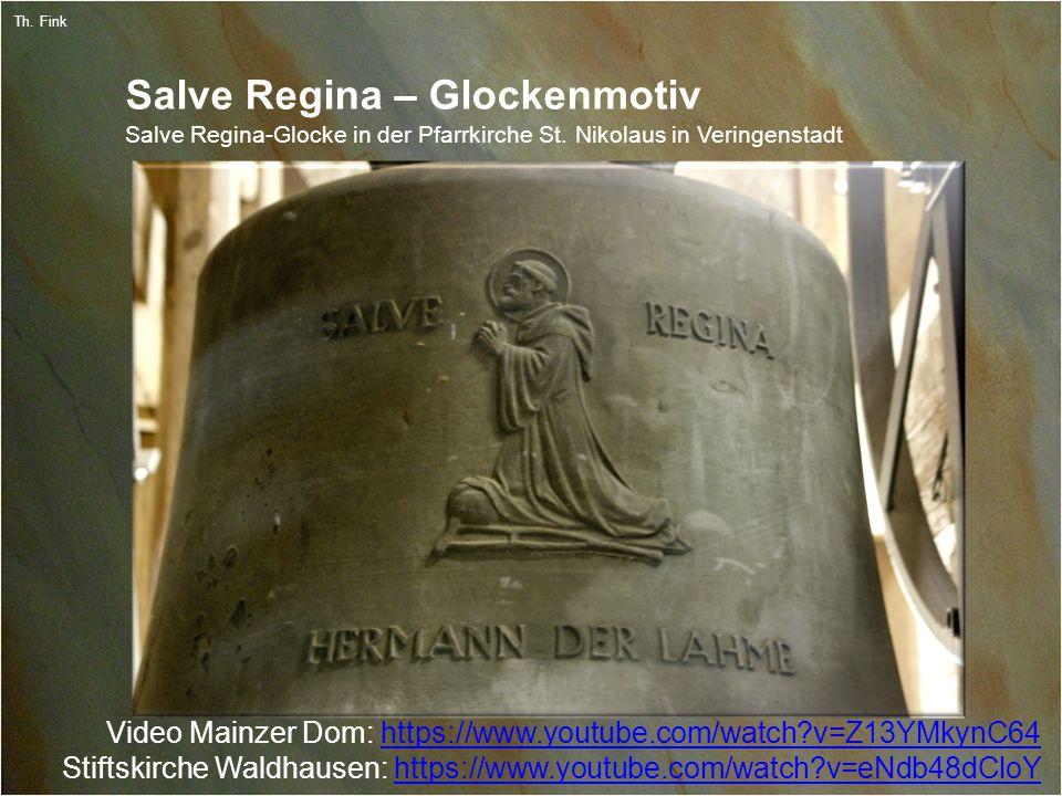 10 Th. Fink Salve Regina – Glockenmotiv Salve Regina-Glocke in der Pfarrkirche St.