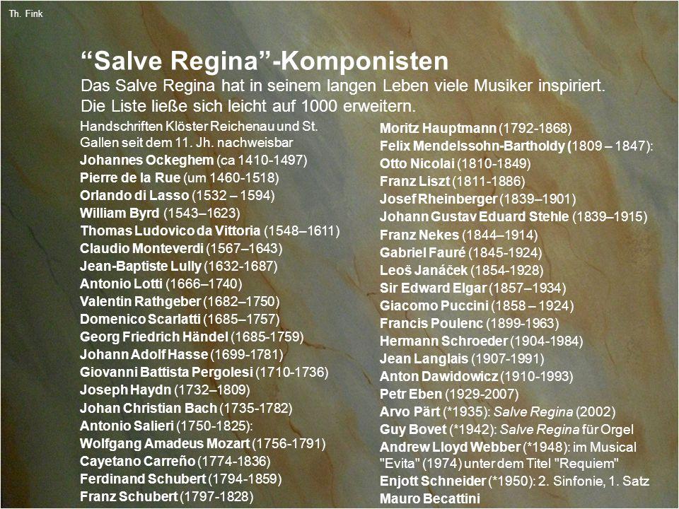3 Th. Fink Salve Regina -Komponisten Handschriften Klöster Reichenau und St.