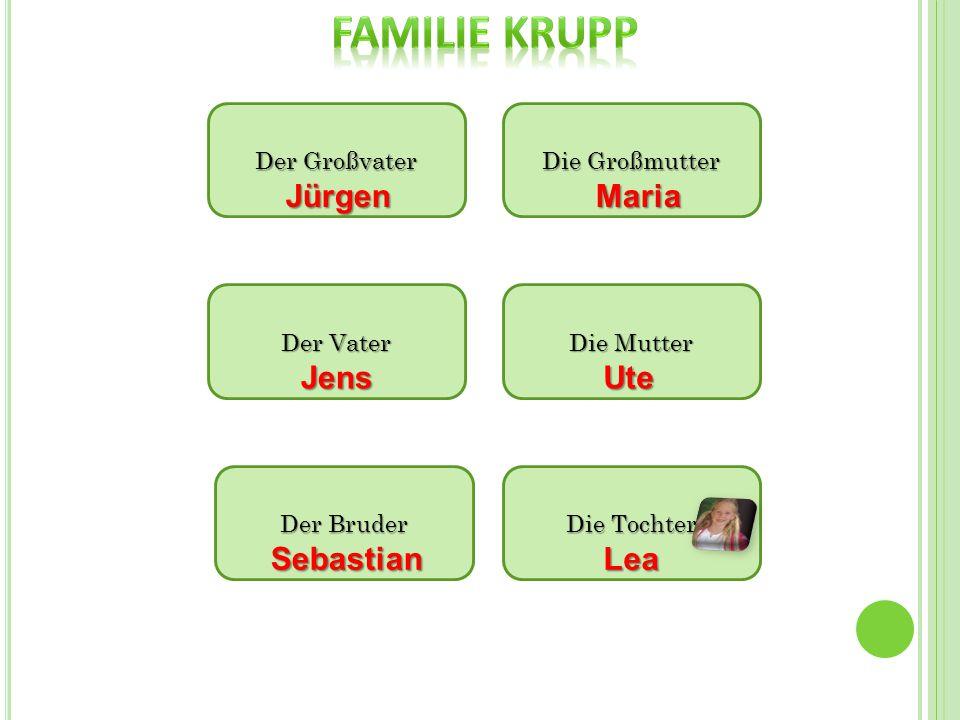 Der Großvater Die Großmutter Die Mutter Der Vater Der Bruder JürgenMaria JensUte Sebastian Die Tochter Lea