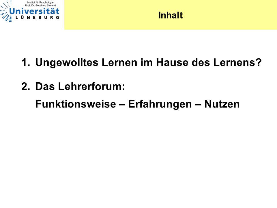 www.lehrerforum.uni-lueneburg.de www.lehrerforum.uni-lueneburg.de Zahlen von gestern 1046 registrierte Benutzer 2593 Beiträge 74239 Aufrufe der Seiten Wir freuen uns natürlich immer über Zuwachs!