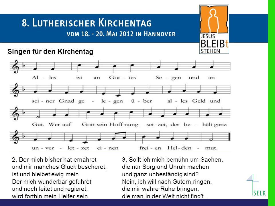 Singen für den Kirchentag 2.