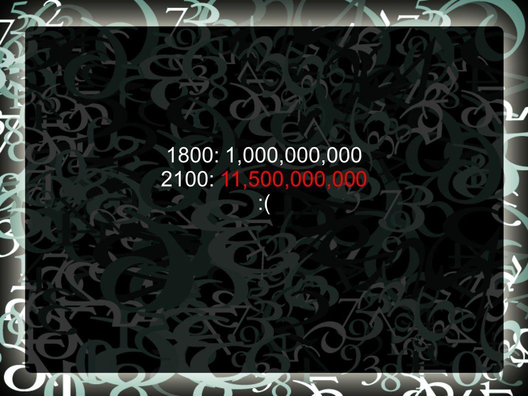 1800: 1,000,000,000 2100: 11,500,000,000 :(