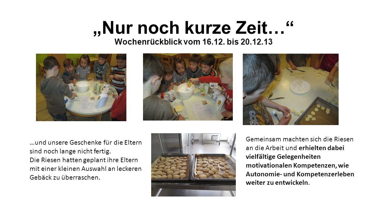 """""""Nur noch kurze Zeit… Wochenrückblick vom 16.12."""