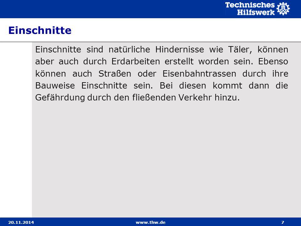20.11.2014www.thw.de8 Trümmer Eine Besonderheit bei Hindernissen stellen Trümmer dar.