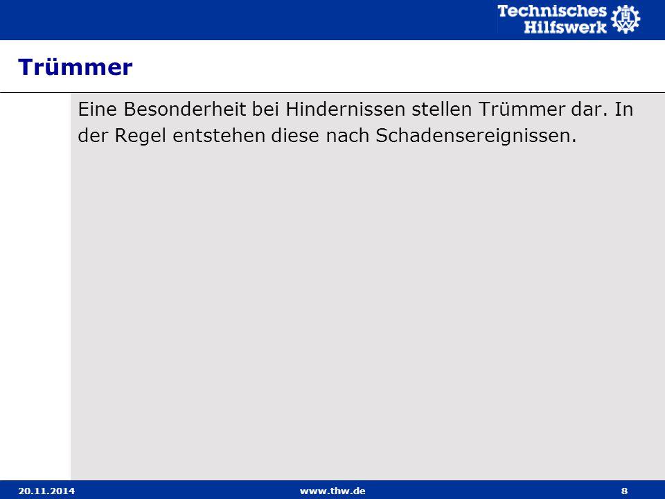 20.11.2014www.thw.de19 Stege Grundlagen Verankerungsform auswählen nach: Verwendungszweck Stegeart Einsatzdauer Bodenart Witterungsverhältnisse