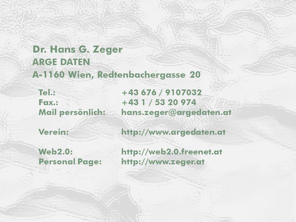 © E-Commerce 2014 ARGE DATEN Kontakt Dr. Hans G.