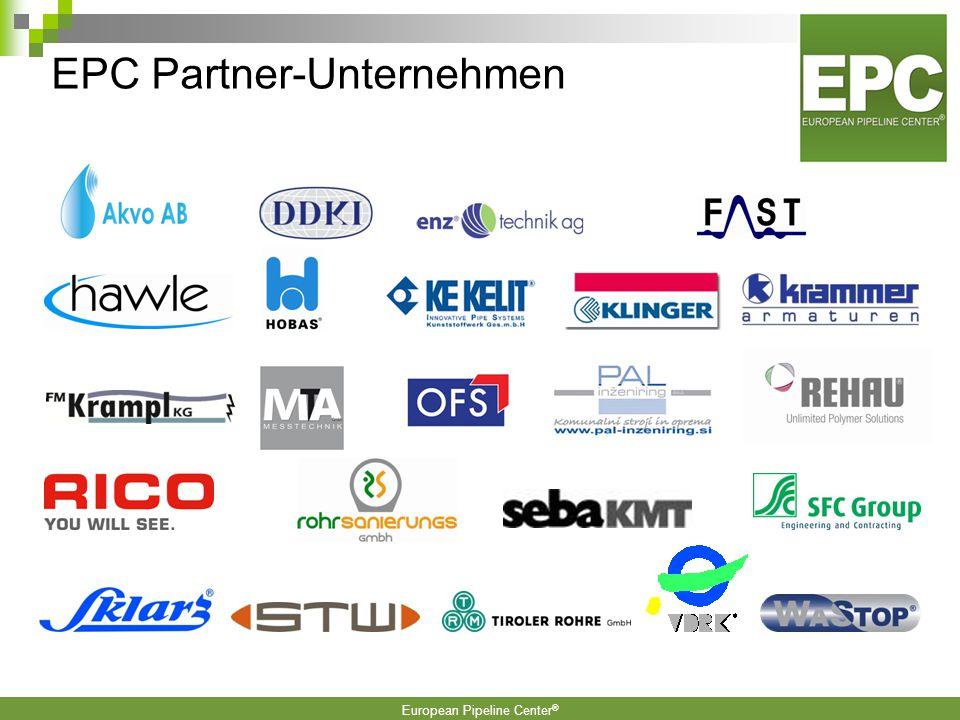 European Pipeline Center ® Zielgruppen: Institutionen, Vereinigungen, Kommunen, Industrie und Ingenieurbüros in den Bereichen Wasser und Abwasser im V