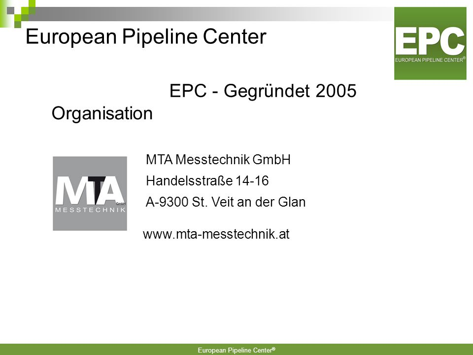 European Pipeline Center ® EPC Partner-Unternehmen