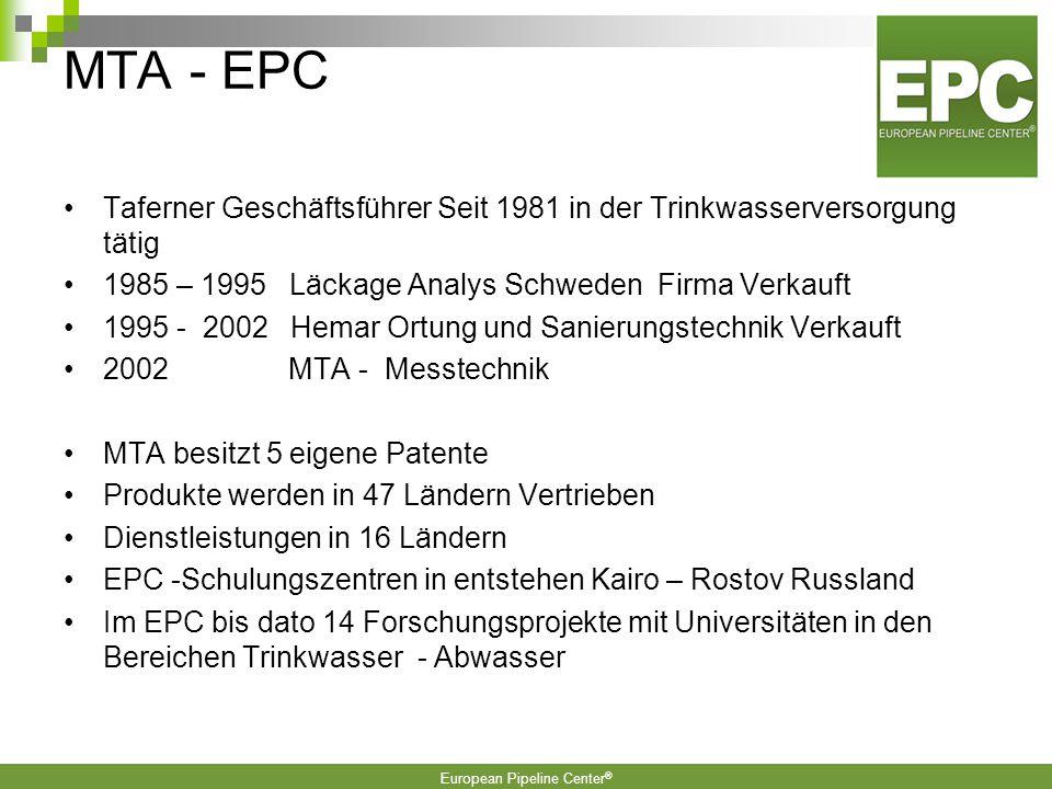 European Pipeline Center ® 6.
