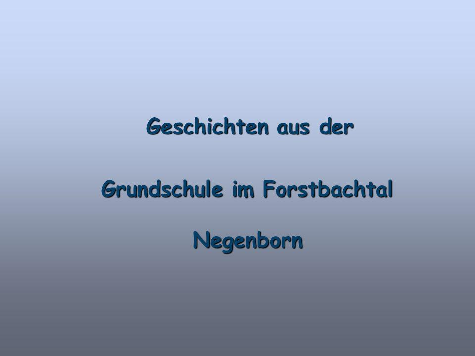 Geschichten aus der Geschichten aus der Grundschule im Forstbachtal Negenborn