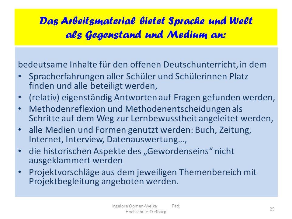 Ingelore Oomen-Welke Pädagogische Hochschule Freiburg i.Br. 24