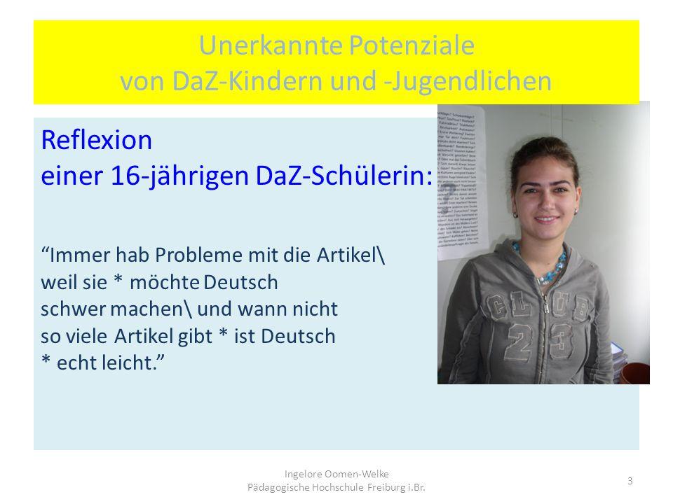 Unerkannte Potenziale von DaZ-Kindern und -Jugendlichen Gespräch zu Dias aus der Türkei: L: Und was sieht man noch auf dem Bild/ das habt ihr vorhin a