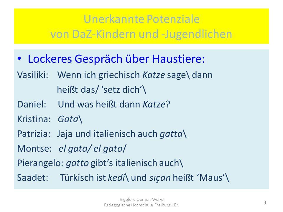 """Reflexion einer 16-jährigen DaZ-Schülerin: """"Immer hab Probleme mit die Artikel\ weil sie * möchte Deutsch schwer machen\ und wann nicht so viele Artik"""