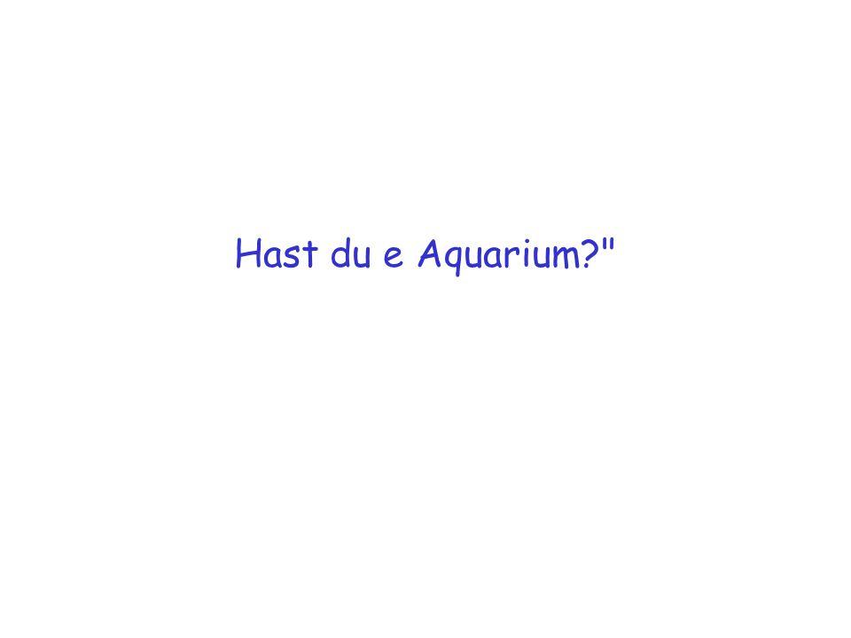 Hast du e Aquarium?