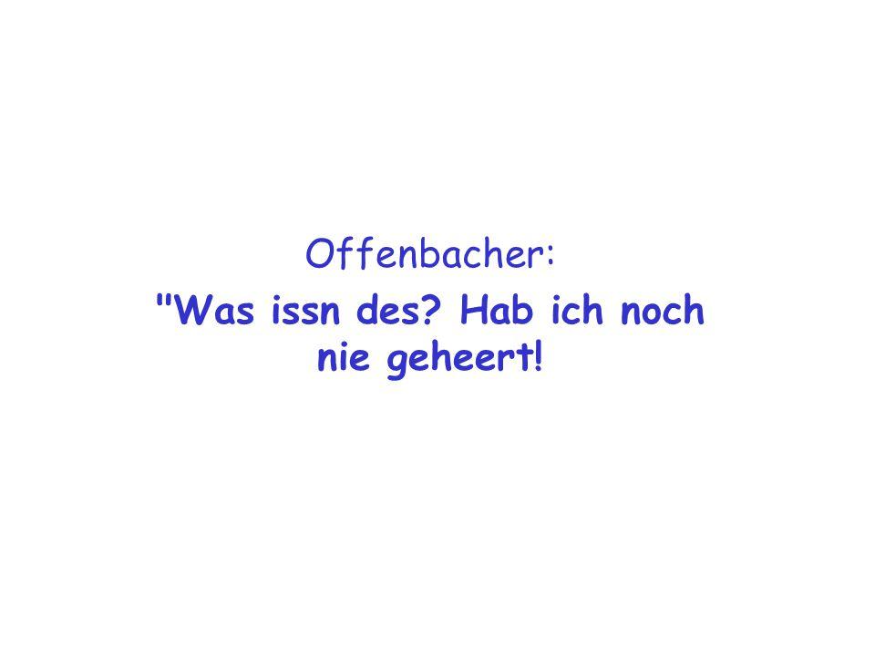 Offenbacher: Du schwul Sau.