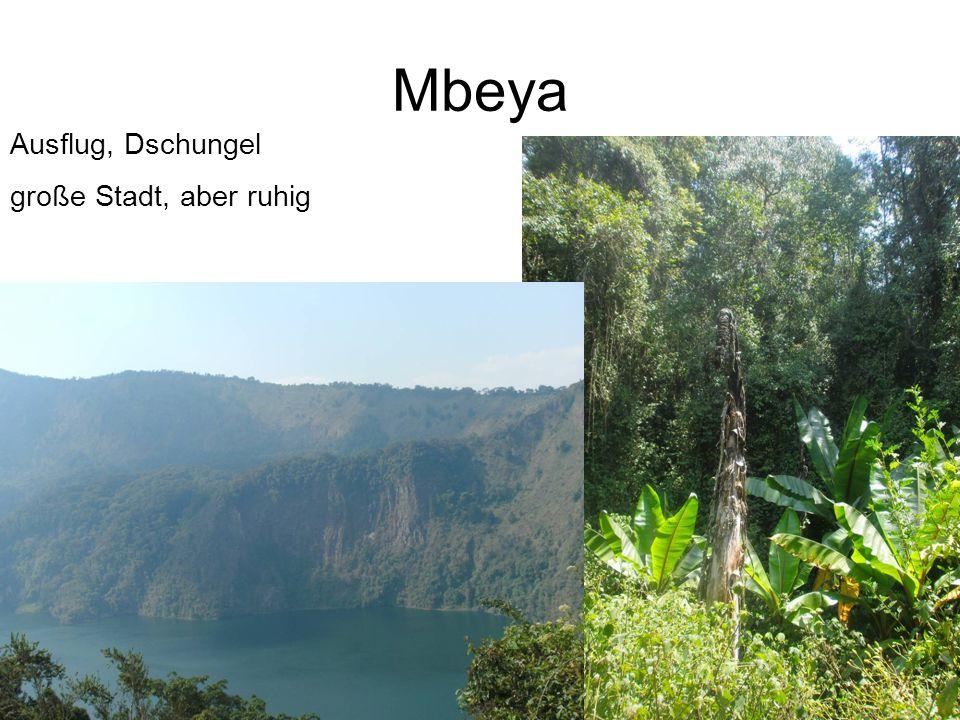 Mbeya Ausflug, Dschungel große Stadt, aber ruhig