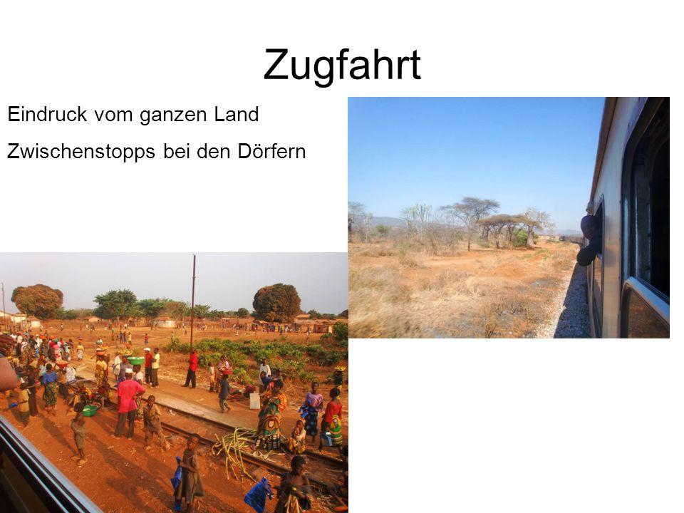 Zugfahrt Eindruck vom ganzen Land Zwischenstopps bei den Dörfern