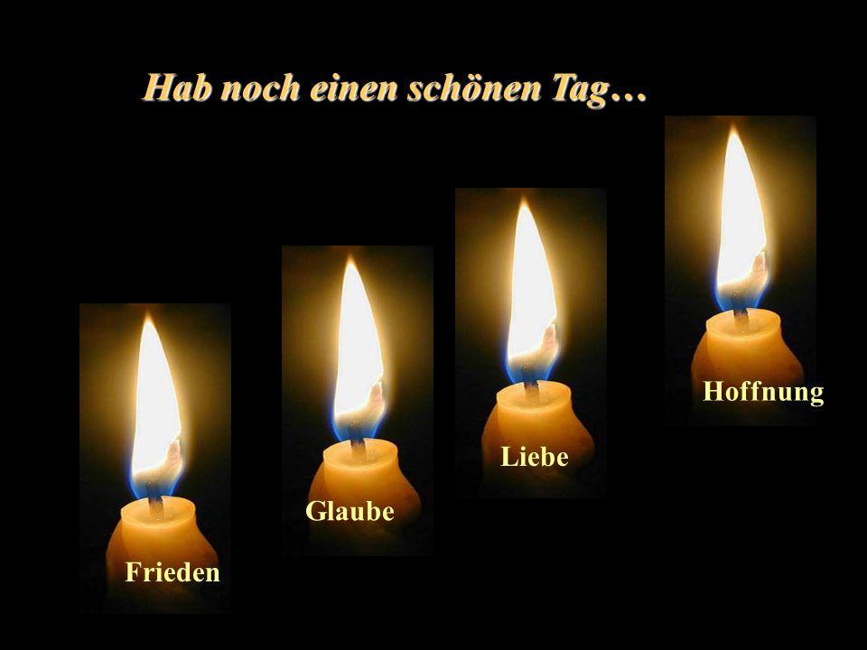 Wir alle müssen für Hoffnung, Glaube, Frieden und Liebe kämpfen !!!!