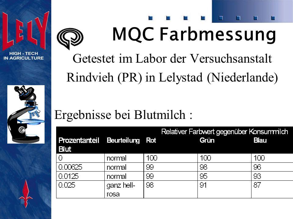 MQC Farbmessung Mastitismilch :