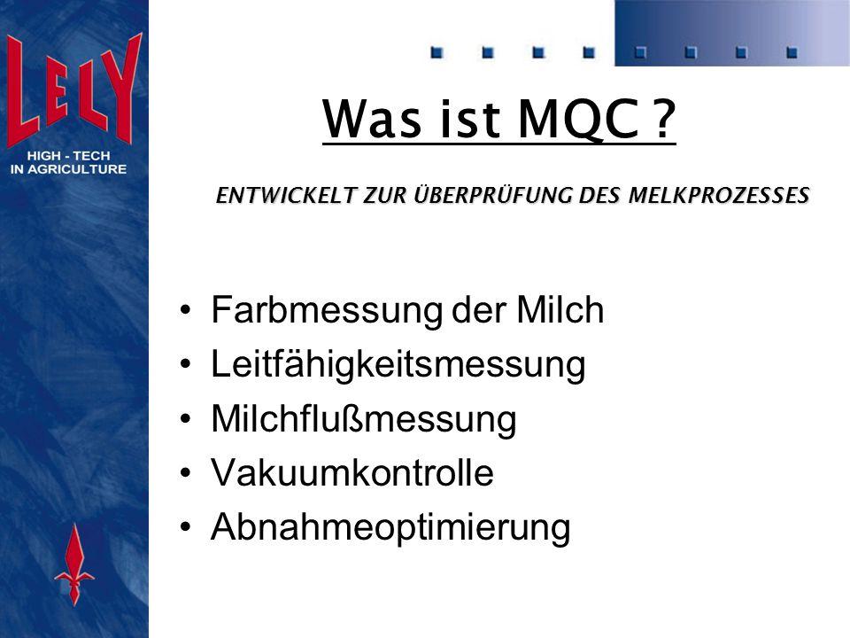 LELY MQC Milchfluß