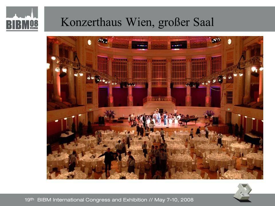Konzerthaus Wien, großer Saal Foto