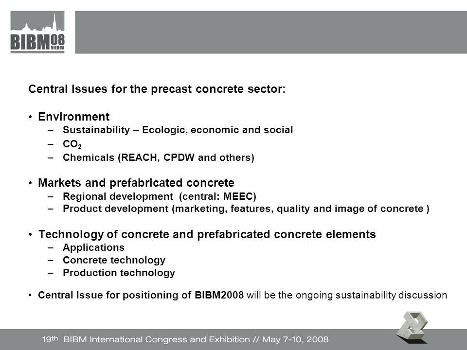 Nachhaltigkeit in den drei Dimensionen – Soziales – Wirtschaft – Umwelt – Vom Globalen zum Einzelnen (Betonwerk, Wohnen) – Olivier Luneau – Lafarge, chairman UNEP SBCI – Dr.