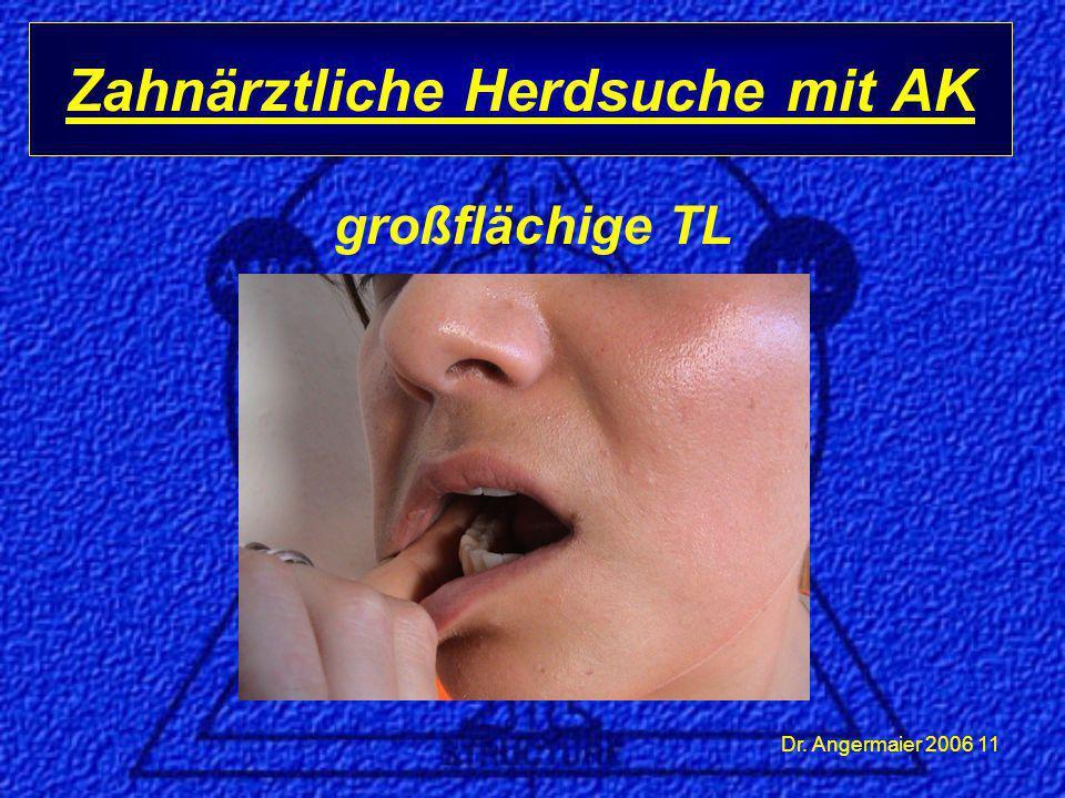 Dr. Angermaier 2006 11 großflächige TL Zahnärztliche Herdsuche mit AK