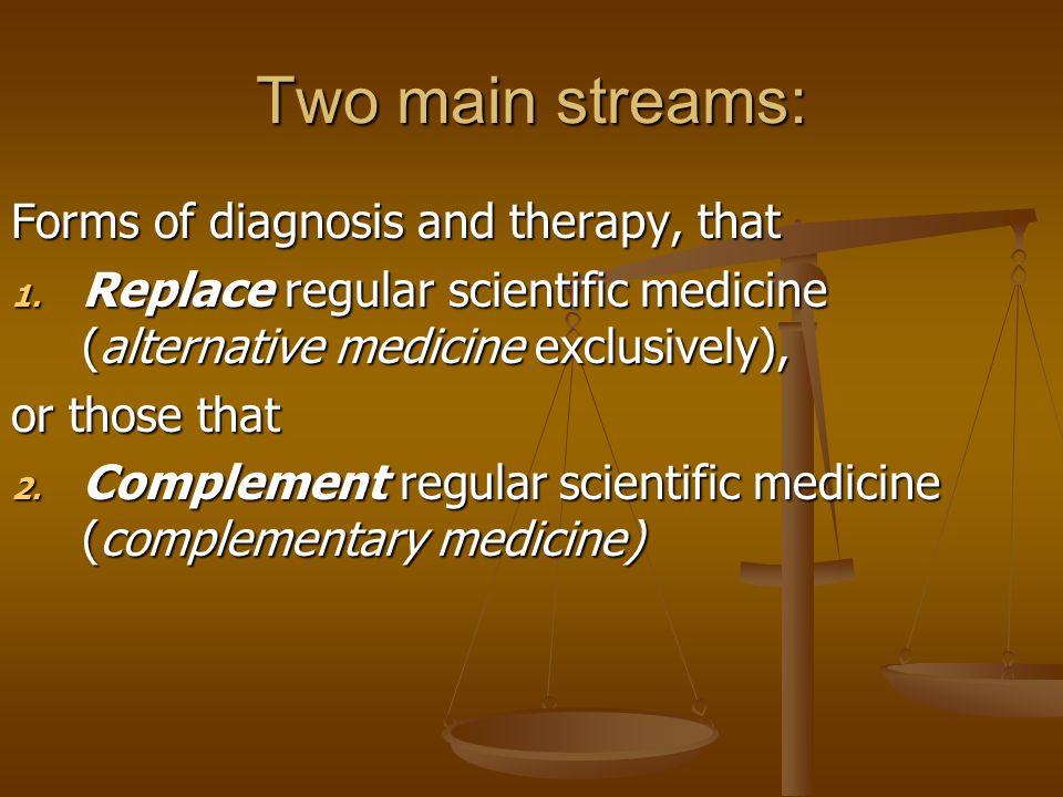 Three main groups that make use of alternative medicine 1.