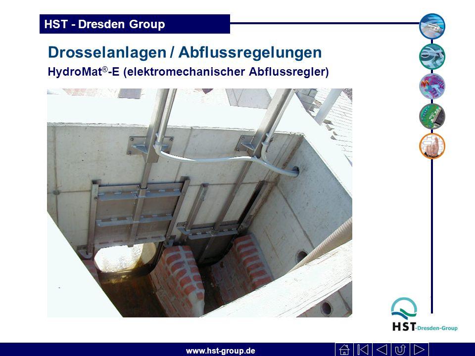 www.hst-group.de HST - Dresden Group Drosselanlagen / Abflussregelungen HydroMat ® -E (elektromechanischer Abflussregler)