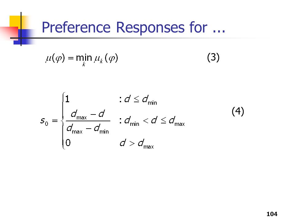 104 Preference Responses for... (3) (4)