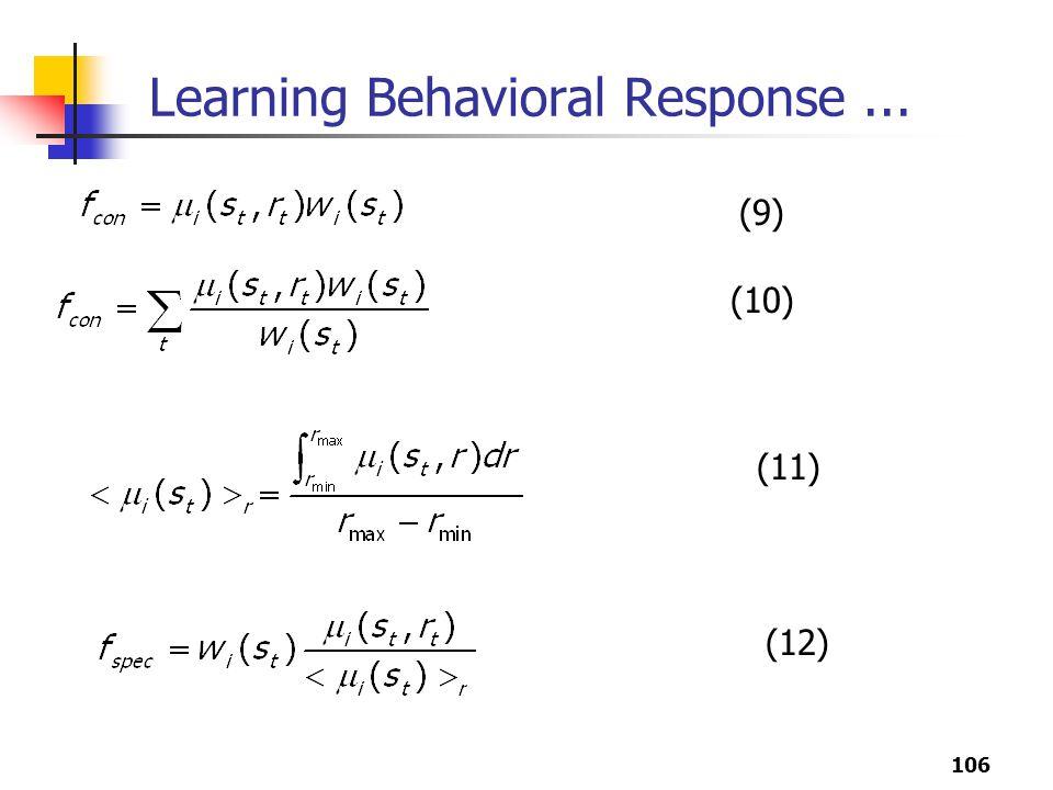 106 Learning Behavioral Response... (9) (10) (11) (12)