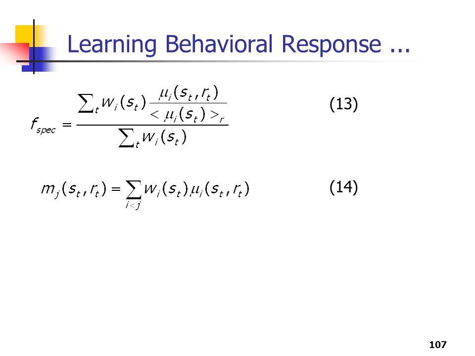 107 Learning Behavioral Response... (13) (14)