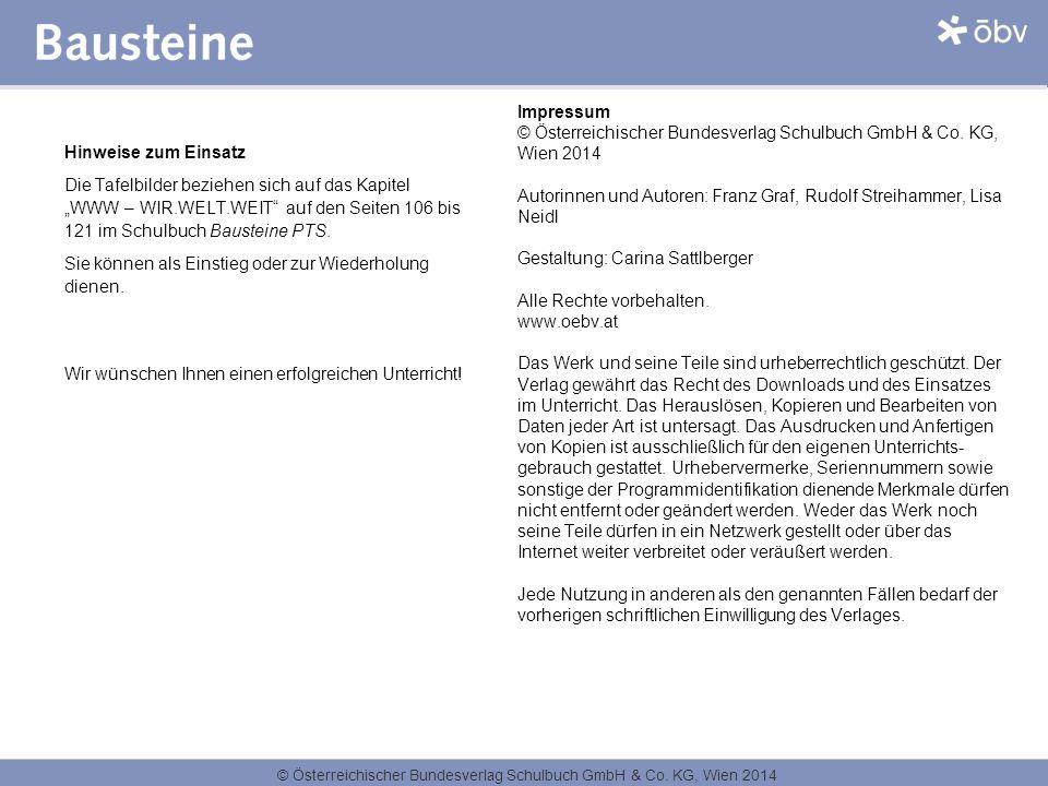 © Österreichischer Bundesverlag Schulbuch GmbH & Co. KG, Wien 2014 Impressum © Österreichischer Bundesverlag Schulbuch GmbH & Co. KG, Wien 2014 Autori
