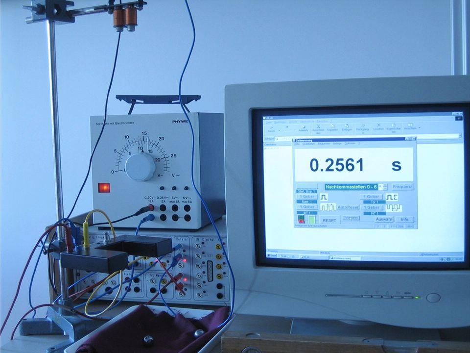 Einfache Bewegungen und ihre Ursachen 22 Messung der Fallbeschleunigung Wir messen: Fallhöhe h = Fallzeit t =