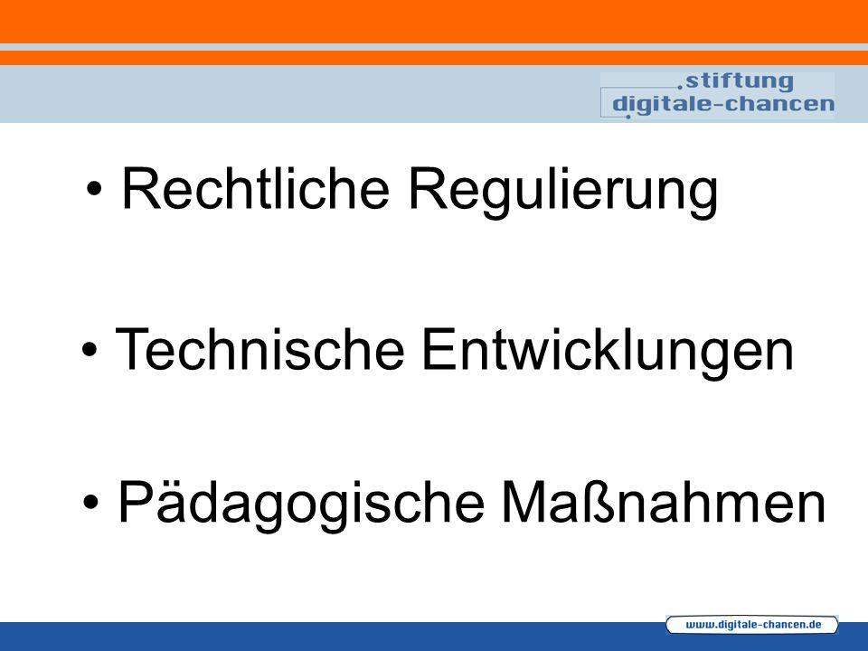 Rechtliche Regulierung Technische Entwicklungen Pädagogische Maßnahmen