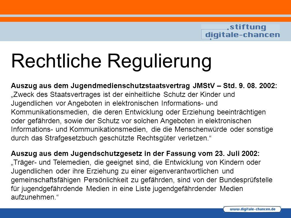 """Auszug aus dem Jugendschutzgesetz in der Fassung vom 23. Juli 2002: """"Träger- und Telemedien, die geeignet sind, die Entwicklung von Kindern oder Jugen"""
