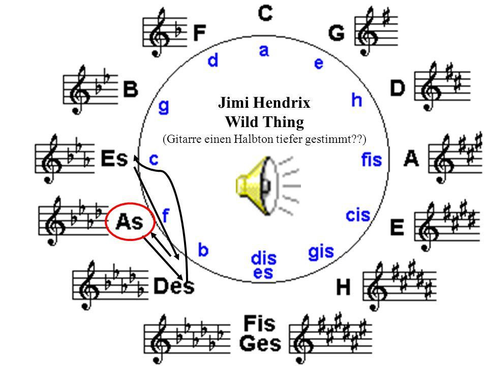 16 Jimi Hendrix Wild Thing (Gitarre einen Halbton tiefer gestimmt??)