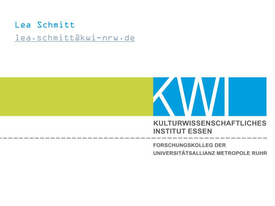 Lea Schmitt lea.schmitt@kwi-nrw.de lea.schmitt@kwi-nrw.de