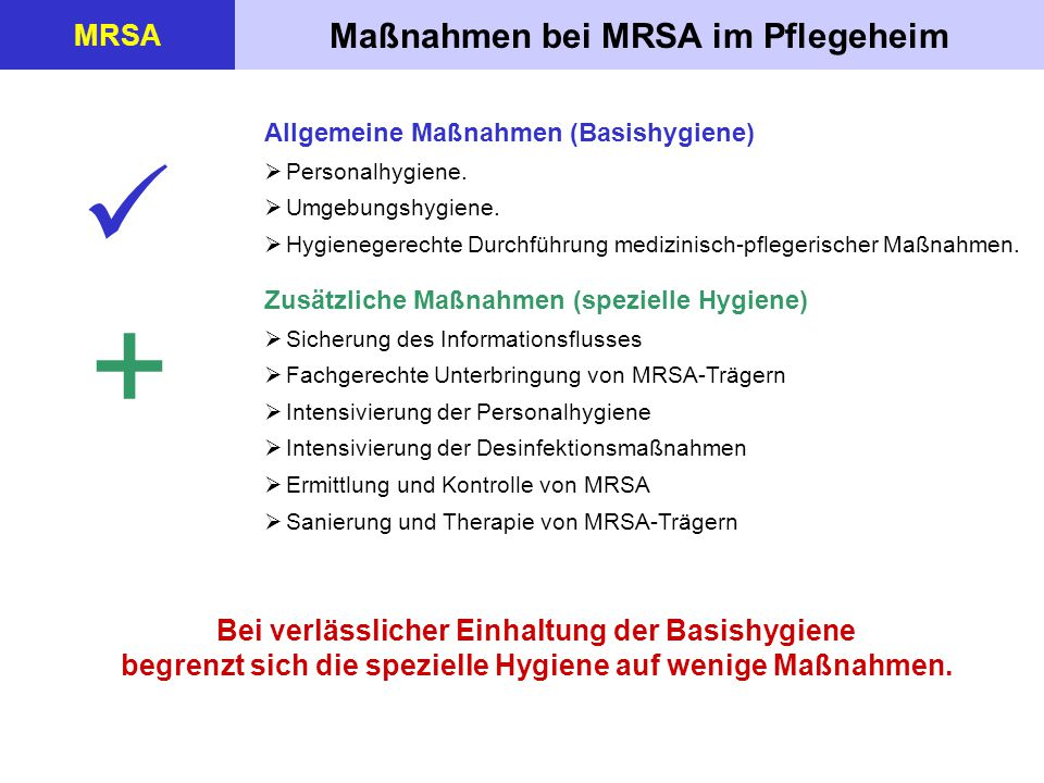 Weitere multiresistente Infektionserreger MRSA ESBL bildende Bakterien (ESBL-Bildner) ESBL = Extended Spectrum Beta- Lactamases ESBL bezeichnet die Eigenschaft von gramnegativen Bakterien, eine besondere Variante der Antibiotika- zerstörenden Substanz Beta-Lakta- mase bilden zu können.