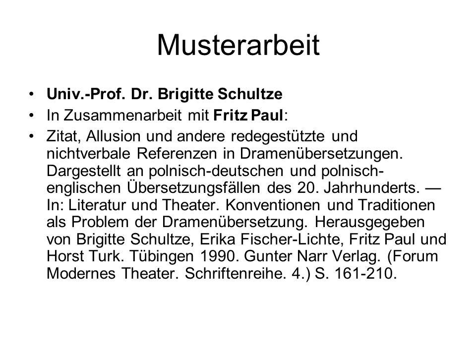 Musterarbeit Univ.-Prof. Dr.