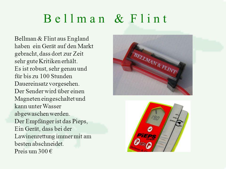 B e l l m a n & F l i n t Bellman & Flint aus England haben ein Gerät auf den Markt gebracht, dass dort zur Zeit sehr gute Kritiken erhält.