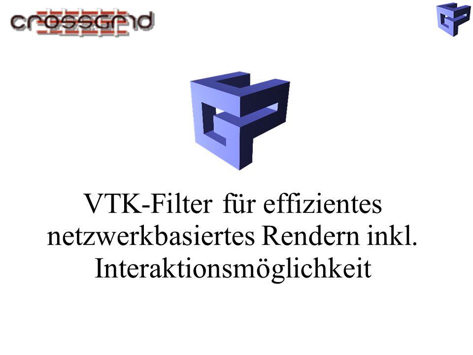 VTK-Filter für effizientes netzwerkbasiertes Rendern inkl. Interaktionsmöglichkeit