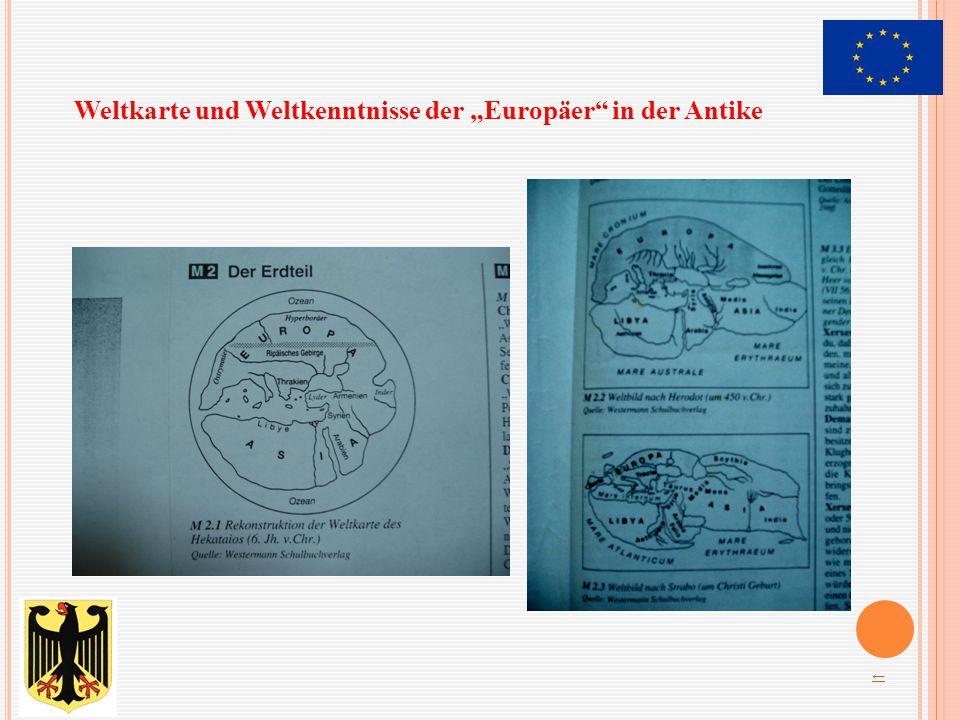 """Weltkarte und Weltkenntnisse der """"Europäer"""" in der Antike ←"""