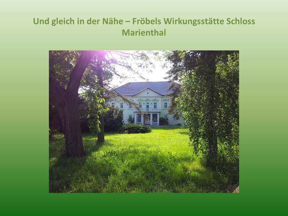 Und gleich in der Nähe – Fröbels Wirkungsstätte Schloss Marienthal